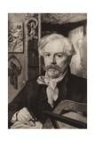 Edmond De Goncourt Giclee Print by Felix Bracquemond