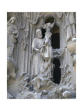 Spain. Barcelona. Basilica and Expiatory Church of the Holy Family. The Nativity. St. Joseph and… Giclee Print