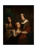 Lady Caroline Towneley with Two of Her Daughters, Caroline and Emily (Copy after Francis Grant),… Giclee Print by George Frederick Clarke