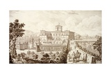 View of the Villa Di Montughi, from 'Views of Tuscany' by Giuseppe Bouchard, Published 1744-57 Giclee Print by Giuseppe Zocchi