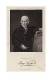 Benjamin West, Anglo-American Painter Giclee Print by George Henry Harlow
