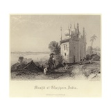 Musjid at Ghazipore Giclee Print by Thomas Colman Dibdin