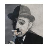 Charlie Chaplin, 1990s Giclee Print by Carolyn Hubbard-Ford