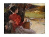The Hunter's Favourite Giclée-Druck von Edouard Veith