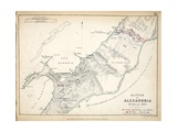 Map of the Battle of Alexandria, Published by William Blackwood and Sons, Edinburgh and London,… Giclee Print by Alexander Keith Johnston