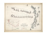 Map of the Battle of Trafalgar, Published by William Blackwood and Sons, Edinburgh and London, 1848 Giclee Print by Alexander Keith Johnston