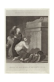 Henry II Scourged at Becket's Tomb Giclee Print by William Marshall Craig