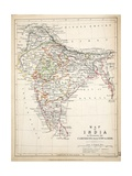 Map of India, Published by William Blackwood and Sons, Edinburgh and London, 1848 Giclee Print by Alexander Keith Johnston