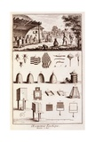 Beekeeping, from 'Dictionary of Sciences', C.1770 Giclee Print by Denis Diderot
