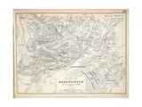 Map of the Battle of Hohenlinden, Published by William Blackwood and Sons, Edinburgh and London,… Giclee Print by Alexander Keith Johnston