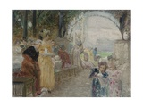 The Tea Party Giclee Print by Edouard Veith