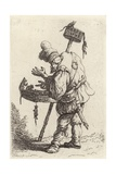 A Travelling Rat Catcher with the Tools of His Trade Giclee Print