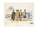 Les Gobe-Mouches, C.1828 Giclee Print by Henri Bonaventure Monnier
