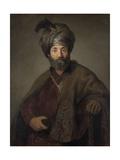 Man in Oriental Costume, C.1635 Giclee Print by  Rembrandt van Rijn