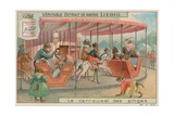 Monkeys on a Carousel Ride Giclee Print