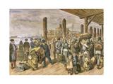 United States. New York. European Mormon Emigration. Engraving. Color Giclee Print