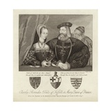 Charles Brandon Duke of Suffolk and Mary Queen of France Giclee Print by Thomas Trotter