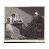 John Milton Dictating to His Daughters Giclee Print by George Romney