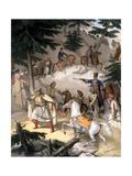 Le Pinde - Plate Xi, Engraved by Lemercier from 'Voyage À Athènes Et a À Co Giclee Print by Louis Dupré