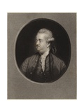 Edward Gibbon Giclee Print by Sir Joshua Reynolds