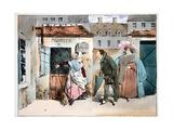 L'Épicier Et La Portiere, C.1828 Giclee Print by Henri Bonaventure Monnier