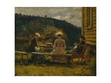 Mother and Cousins, 1889 Giclee Print by Olaf Isaachsen