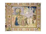 The Road to Calvary, 1320 Giclee Print by Pietro Lorenzetti