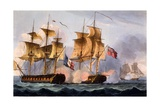 Capture of Le Desius, Print Made by Thomas Sutherland, from 'The Naval Achievements of Great… Giclee Print by Thomas Whitcombe