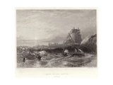 Holy Island Castle, St Cuthberts Giclee Print by George Balmer