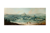 Distant View of Clitheroe, C.1730 Giclee Print by Matthias Read