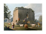 Monument Between Tripoli and Tortosa, Engraved by William Watts (1752-1851), 1806 Giclee Print by Luigi Mayer