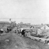 Fifth Street, Leavenworth, Kansas, 1867 Fotografisk tryk af Alexander Gardner