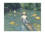 Skiffs, 1877 Giclee Print by Gustave Caillebotte