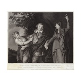 Garrick Between Tragedy and Comedy Giclee Print by Sir Joshua Reynolds