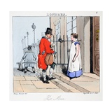 Post Man, Illustration from 'Londres' by Henri Monnier, Pub. Paris, C.1828 Giclee Print by Henri Bonaventure Monnier