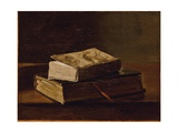 Still Life with Two Books, 1858 Giclee Print by Francois Bonvin