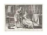 Applying Leeches, Illustration from 'Emblemata of Zinne-Werk' by Johannes De Brune (1589-1658),… Giclée-Druck von Adriaen Pietersz van de Venne