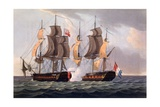 Capture of La Proserpine, Print Made by J. Jeakes, from 'The Naval Achievements of Great Britain,… Giclee Print by Thomas Whitcombe