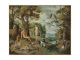 The Temptation of Adam, from the Story of Adam and Eve Giclee Print by Jan the Younger Brueghel
