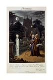 Necromancy: Edward Kelly, a Magician, Raising the Ghost of a Person Lately Deceased, in the… Giclee Print