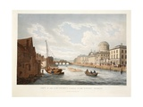 View of the Law Courts, Looking Up the Liffey, Dublin, 1799 Giclee Print by James Malton
