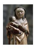 Woodcarving of Virgin. Patron-Saint of Cantabria. Sanctuary of the Bien Aparecida. Hoz De Marron.… Giclee Print