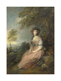 Mrs. Richard Brinsley Sheridan, 1785- 87 Giclee Print by Thomas Gainsborough