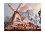 The Millyard, from 'ten Views in the Island of Antigua', 1823 Giclee Print by William Clark
