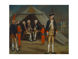 Three Princes in Camp, 1742 Giclee Print by George Lisiewski
