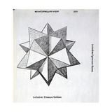 Icosaedron Elevatum Solidum, Illustration from 'Divina Proportione' by Luca Pacioli… Giclee Print by  Leonardo da Vinci