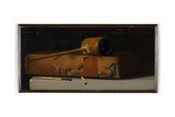 Still Life with Pipe and Book, Late 19th or Early 20th Century Giclee Print by John Frederick Peto