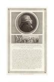 Portrait of Honore Gabriel Riqueti, Comte De Mirabeau Giclee Print by Jean Duplessi-Bertaux