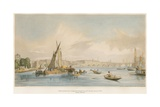 Waterloo Bridge, from the West, with a Boat Race Giclee Print by William Parrott