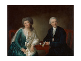 Potsdamer Cloth Merchant Joachim Heinrich Hildebrand and His Wife, C.1788 Giclee Print by Johann Gottlieb Puhlmann